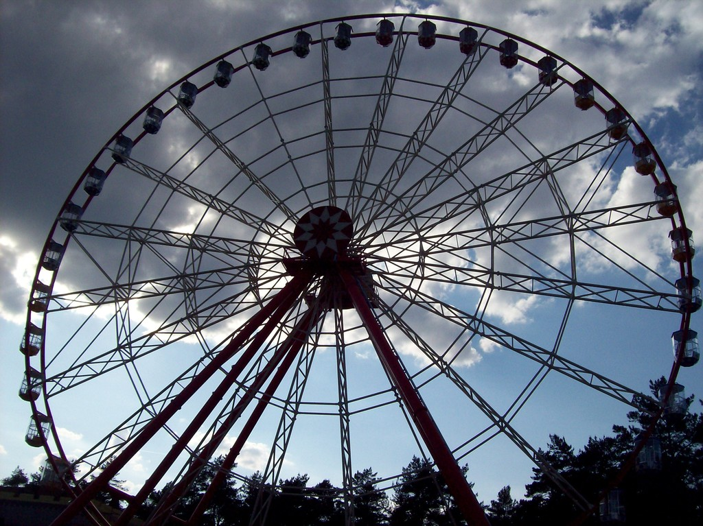 Ferris Wheel 60 Open Gondolas Technical Park Amusement