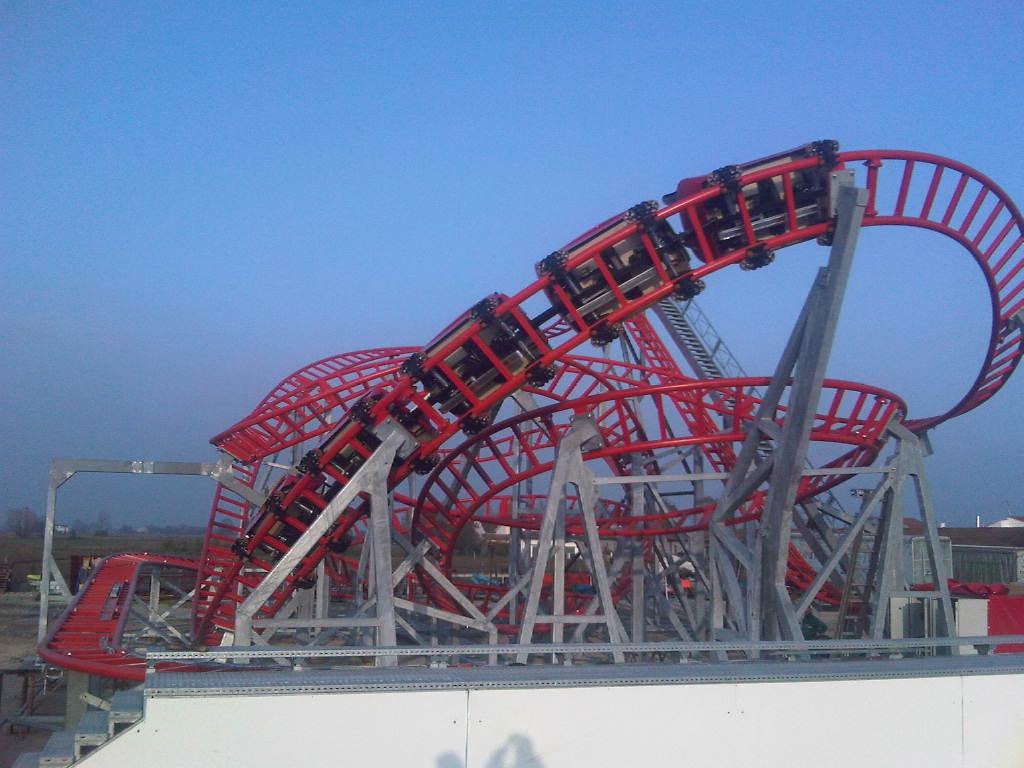 Roller Coaster Rock N Roll Technical Park Amusement