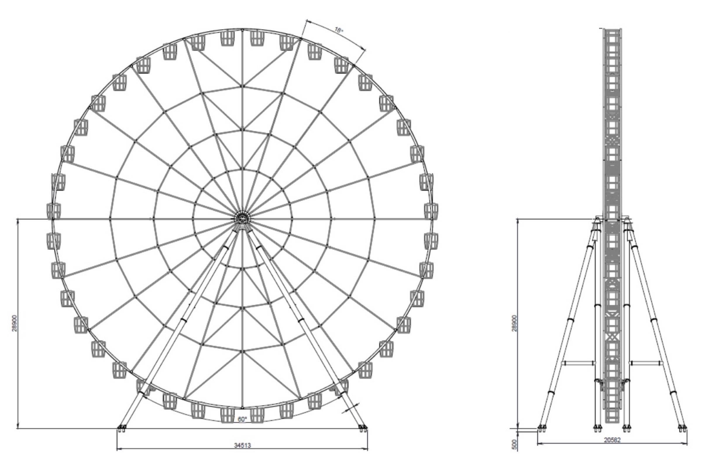 ferris wheel 60mt - technical park