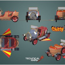 technical park amusement ride chitty fly6